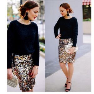 H&M Gold & Silver Sequin Skirt